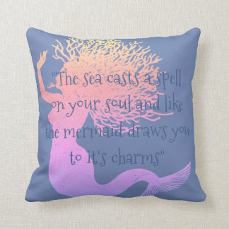 The Mermaid's Spell Throw Pillow