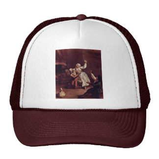 The Merry Couple By Longhi Pietro (Best Quality) Trucker Hat