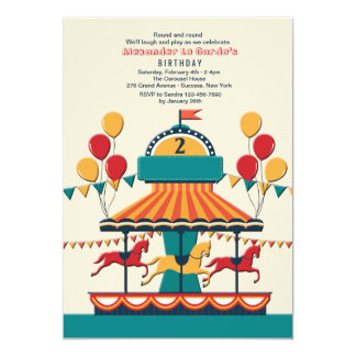 The Merry-Go-Round Invitation