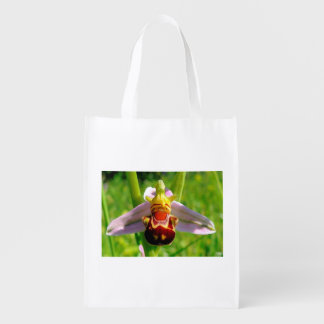 The merry orchis reusable grocery bag