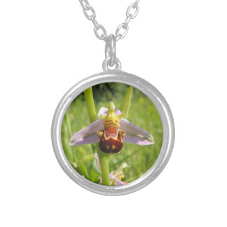 The merry orchis silver plated necklace