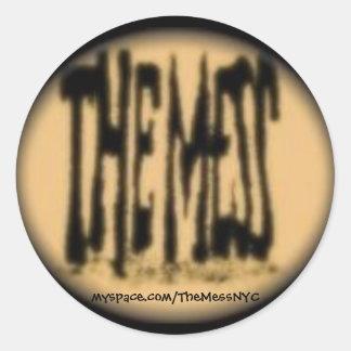 The Mess Sticker Black
