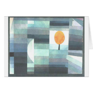 The messenger of autumn by Paul Klee Card