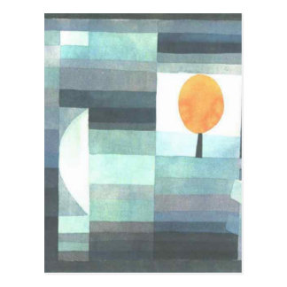 The messenger of autumn by Paul Klee Postcard