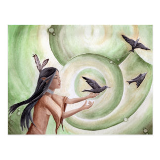 The Messengers Postcard Native American Postcard