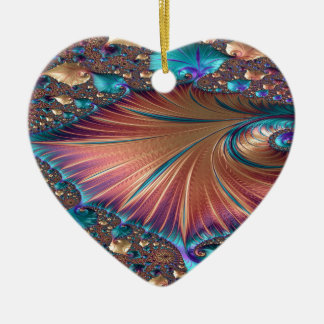 The Metamorphosis of Love Fractal Abstract design Ceramic Ornament