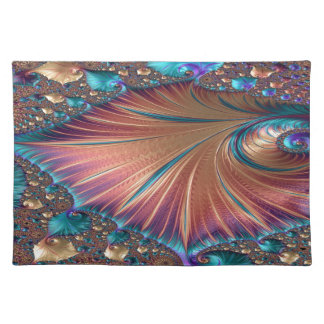 The Metamorphosis of Love Fractal Abstract design Placemat