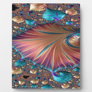 The Metamorphosis of Love Fractal Abstract design Plaque