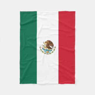 The Mexican National Flag Fleece Blanket