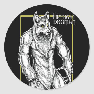 The Michigan Dogman Classic Round Sticker