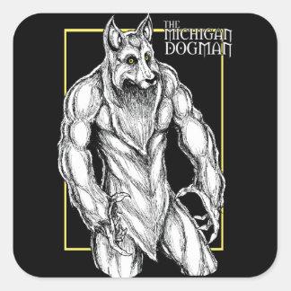 The Michigan Dogman Square Sticker