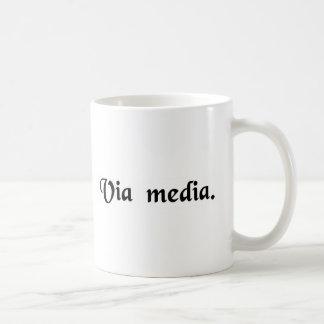 The middle way. basic white mug