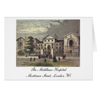 The Middlesex Hospital - etching Card