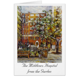The Middlesex Hospital from the Garden Notelet Card