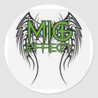 The MiG Effect Classic Round Sticker