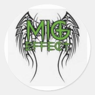 The MiG Effect Round Sticker