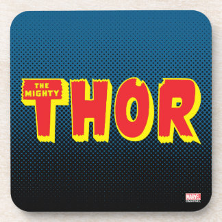 The Mighty Thor Logo Drink Coaster
