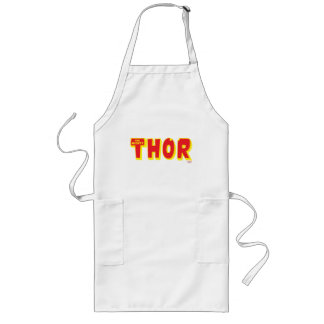 The Mighty Thor Logo Long Apron