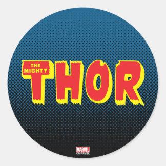 The Mighty Thor Logo Round Sticker