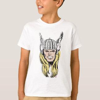 The Mighty Thor Retro Comic Halftone Head T-Shirt