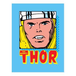The Mighty Thor Retro Comic Icon Postcard