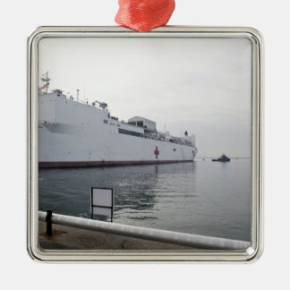 The Military Sealift Command hospital ship Metal Ornament