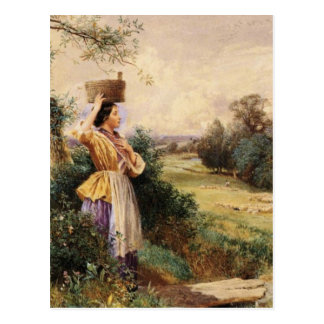 The Milk Maid - Myles Birket Foster Postcard