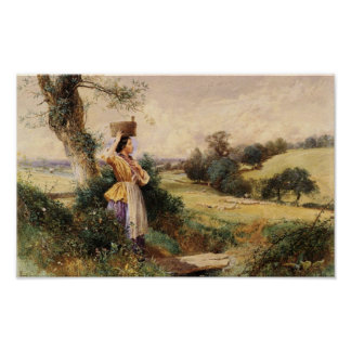 The Milk Maid - Myles Birket Foster Poster