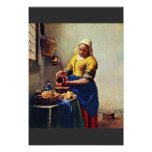 The Milkmaid [1]. By Johannes Vermeer Poster