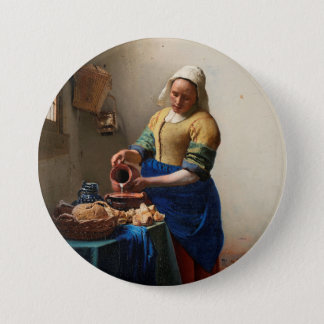 THE MILKMAID 3 INCH ROUND BUTTON