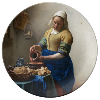 The Milkmaid by Johannes Vermeer Plate