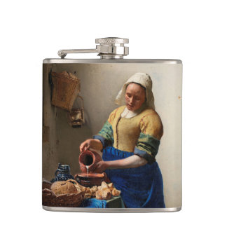 THE MILKMAID HIP FLASK