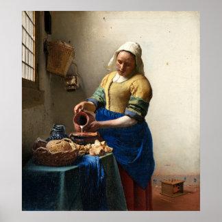 The Milkmaid, Jan Vermeer Poster
