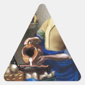 The MilkMaid Triangle Sticker