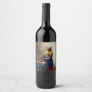 THE MILKMAID WINE LABEL
