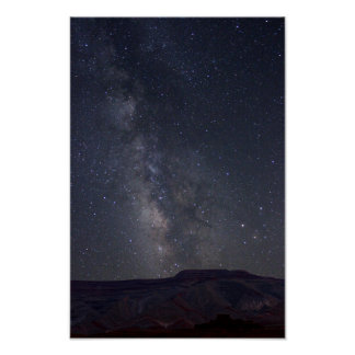 The Milky Way over Raplee Ridge Poster