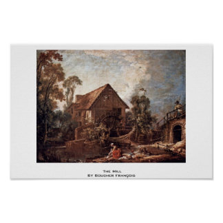 The Mill By Boucher François Poster