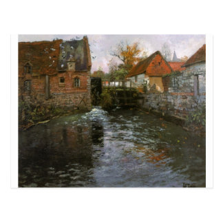 The Mill Pond by Frits Thaulow Postcard