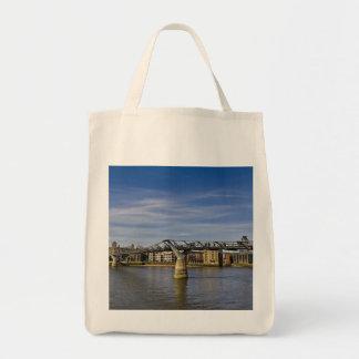 The Millennium Bridge Grocery Tote Bag