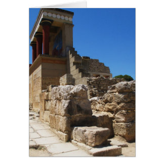 The Minoan Palace of Knossos photograph Card