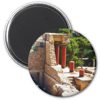 The Minoan Palace of Knossos picture 2 Inch Round Magnet