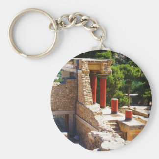 The Minoan Palace of Knossos picture Basic Round Button Keychain