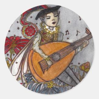 The Minstrel Round Sticker