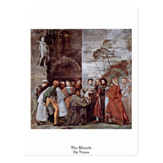 The Miracle By Titian Postcard