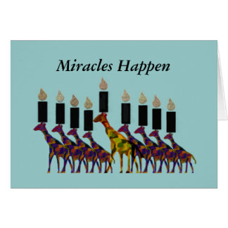 The Miracle of Hannukah Card
