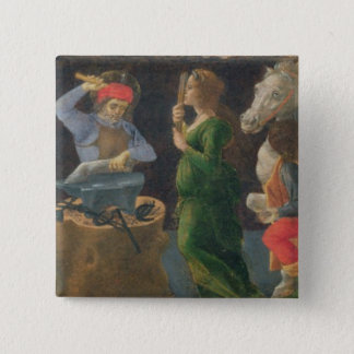The Miracle of St. Eligius, predella panel from th 2 Inch Square Button
