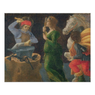 The Miracle of St. Eligius, predella panel from th Poster