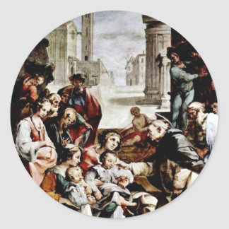 The Miracle Of St. Giacinto By Salimbeni Ventura Round Sticker
