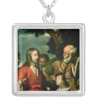 The Miracle of the Loaves and Fishes, c.1630 Silver Plated Necklace