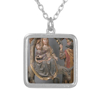 The Miracle of the Palm Tree on the Flight Egypt Silver Plated Necklace